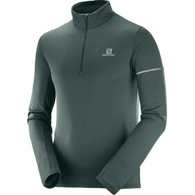 Salomon Agile Midlayer halve rits Heren, green gab